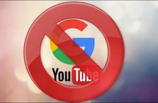 Ilustrasi pemblokiran Google dan Youtube