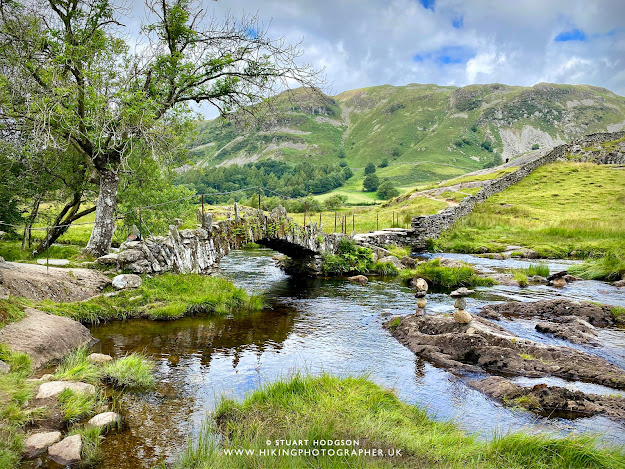 Slaters bridge slater Cathedral Quarry walk map Lake District caves Little Langdale car park