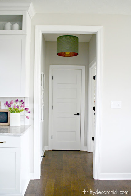 Hanging a light from recessed light