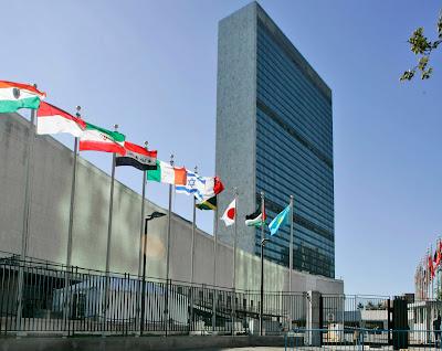 UN Nations flags