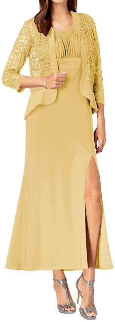 Best Gold Mother of The Groom Dresses,