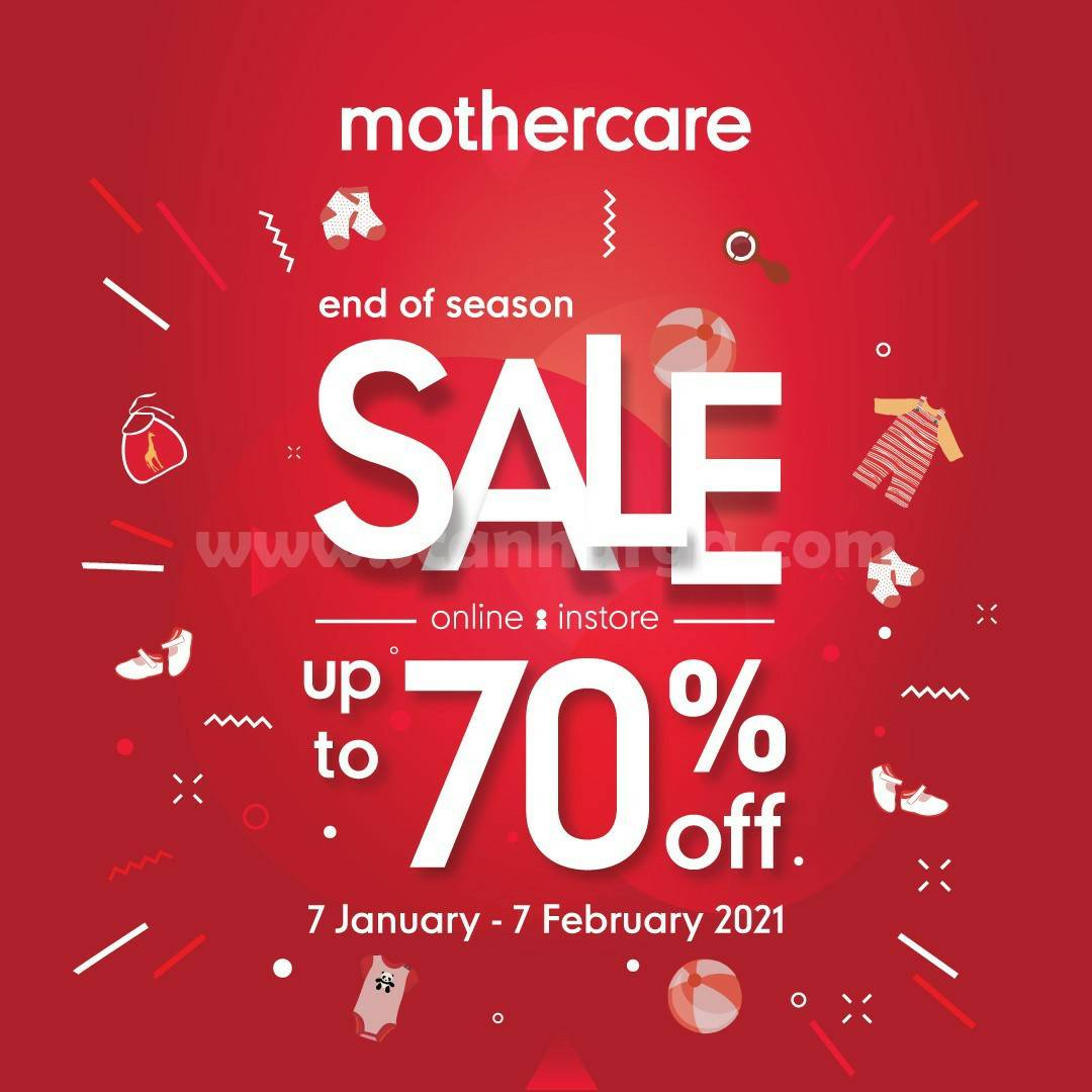 Promo Mothercare Special End Of Season Sale - Disc. up to 70% off