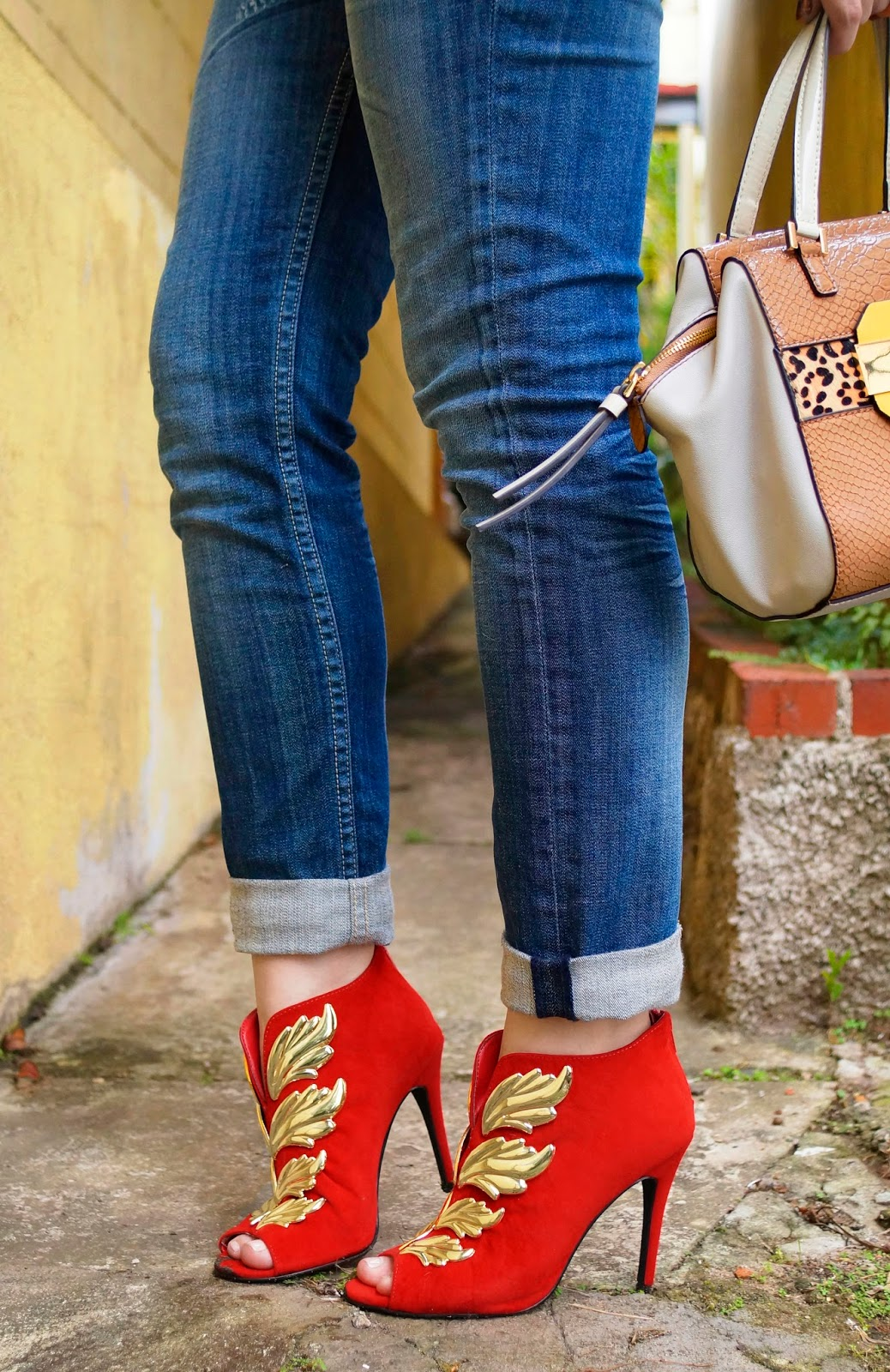 Red Booties Outfit