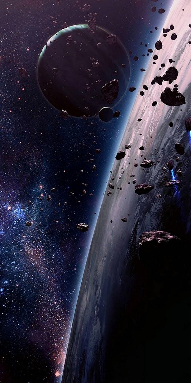 Papel de Parede para Celular Planetas no Espaço