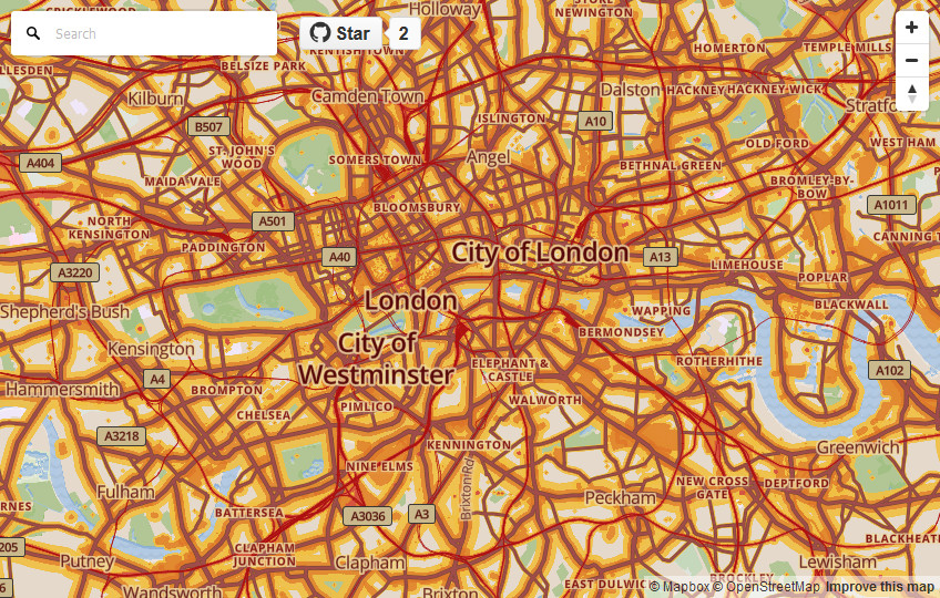 Global Noise Pollution Map