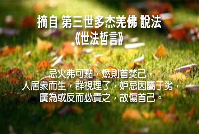 第三世多杰羌佛說《世法哲言》(四十七)