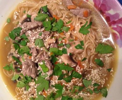 Pho (Vietnamese beef soup)