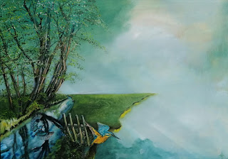 Modern, paint, colourfull, gallery, galleri, art, maleri isfugl, Brande å, Brande, storytelling, kingfisher