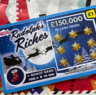 £1 Rudolph's Riches Scratchcard From Rieves Lotteries