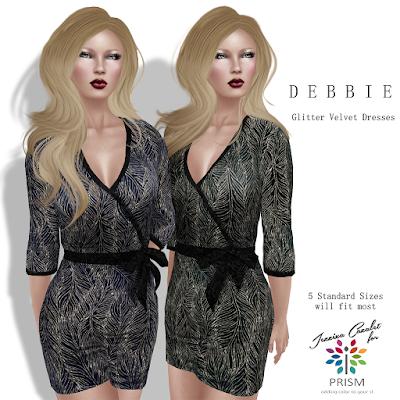 PRISM @ Designers Circle #149 Jezzixa Cazalet DEBBIE Glitter Velvet Dresses
