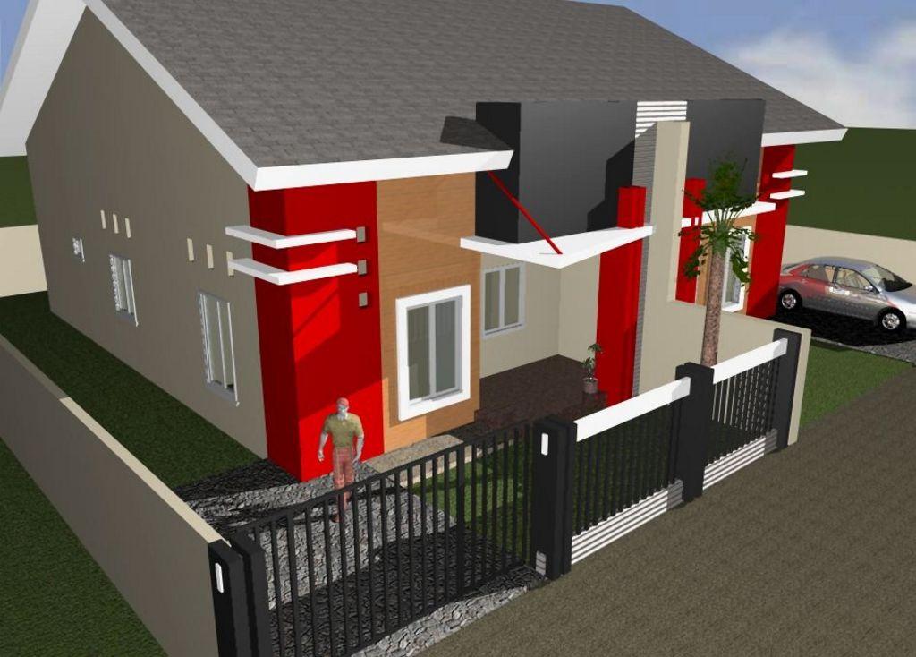 desain rumah type 90 minimalis modern