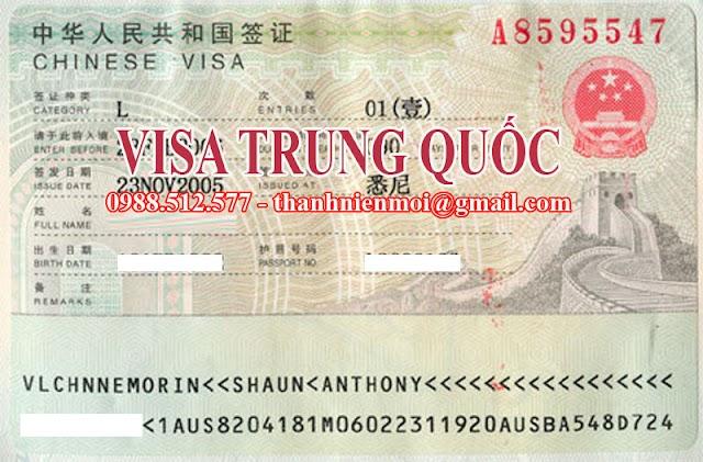 Dịch vụ làm visa Trung Quốc nhanh, uy tín và vắng mặt
