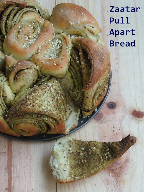 Zaatar Bread, Pull Apart Bread with Zaatar