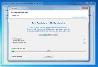 Cara Copy DVD Windows 7 ke Flashdisk yang bootable