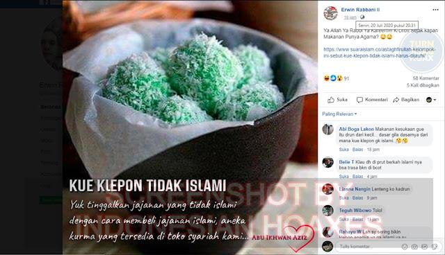 HOAX Klepon Makanan Tidak Islami