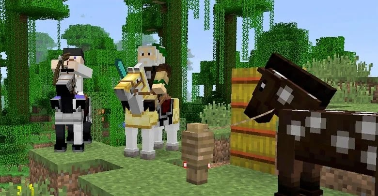 Horses in Minecraft: how to breed and tame them