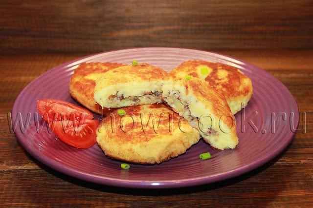 рецепт картофельных котлет с мясом