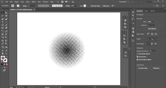 3D Halftone Effect in Adobe Illustrator