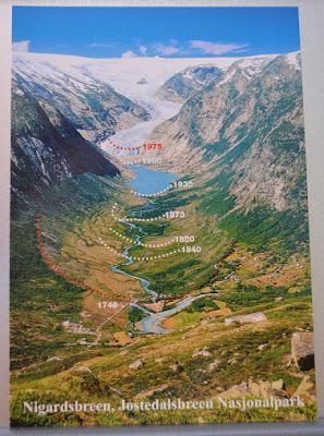 Retroceso del glaciar de Nigardsbreen