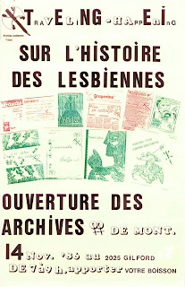flyer annoucing the opening of the archives