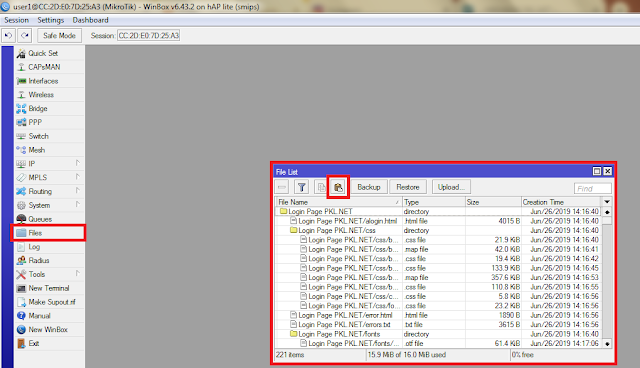 mengganti template login page hotspot mikrotik