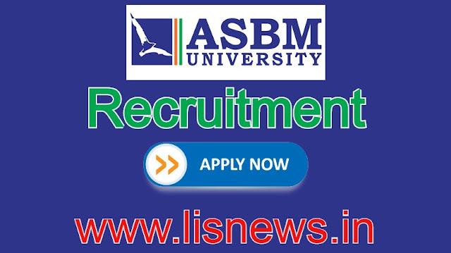 Librarian, Deputy Librarian, Assistant Librarian at ASBM University, Odisha