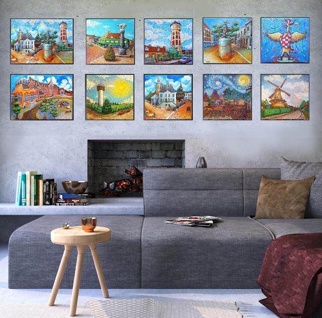 Like Van Gogh series by Erika Stanley