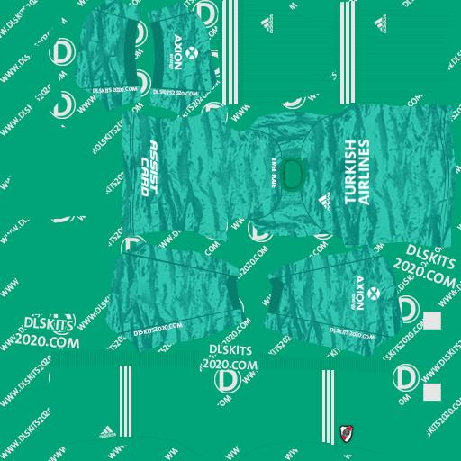 River Plate away goalkeeper Kits 2019-2020 kit dream league soccer 2020
