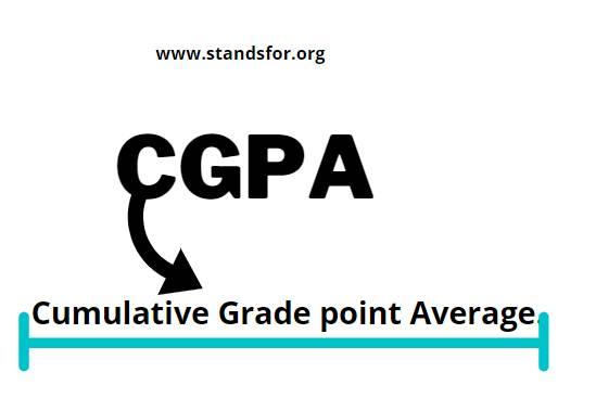 CGPA-Cumulative Grade point Average.