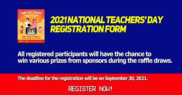 2021 NATIONAL TEACHERS' DAY - REGISTRATION FORM