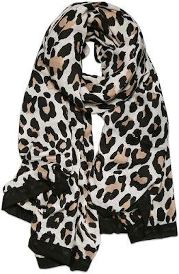 Cheap Leopard Pattern Sheer Chiffon Scarf