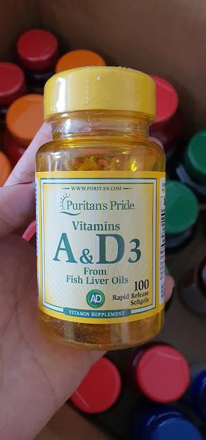 Viên uống bổ sung Vitamins A & D3 Puritan's Pride 5000/400 IU-100, Hàng nội địa Mỹ