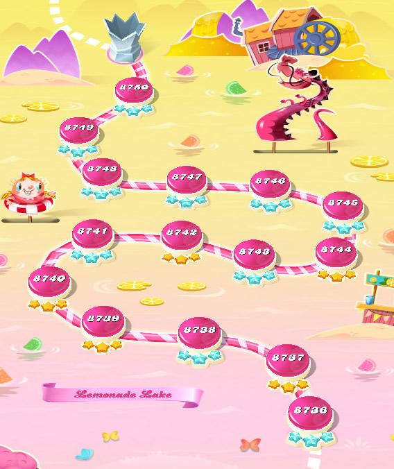 Candy Crush Saga level 8736-8750