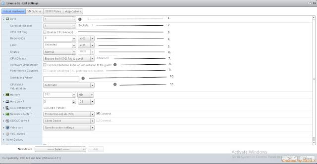 Virtual Machine - Edit Settings (CPU) Part 1 (i)