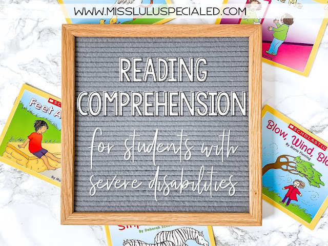Reading comprehension for students with severe disabilities on felt letter board
