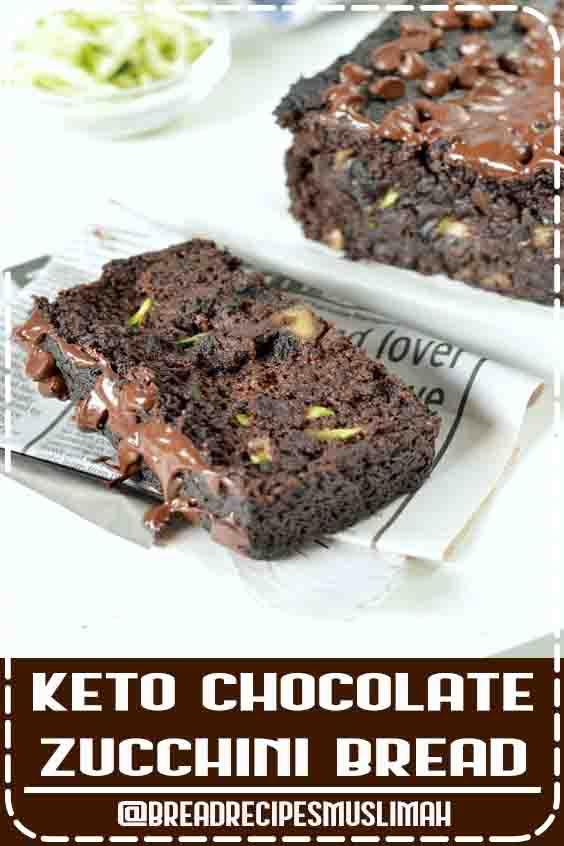 KETO CHOCOLATE ZUCCHINI BREAD an easy, healthy keto bread with 3g ne carb per serve. #ketobread #ketoecipes #chocolatezuccinibread #ketochocolatebread #ketobaking #paleobread #lowcarbbread #paleochocolatebread #Bread #Recipes #homemade #keto