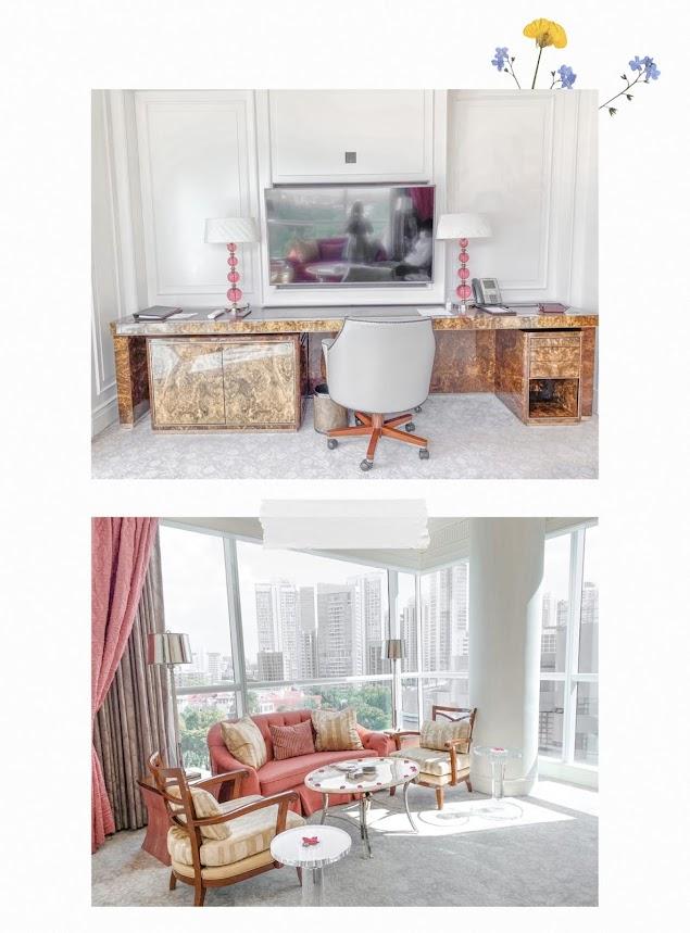 st regis staycation lady astor living room