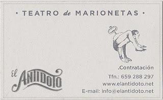 Contactar con el Teatro de marionetas El Antídoto