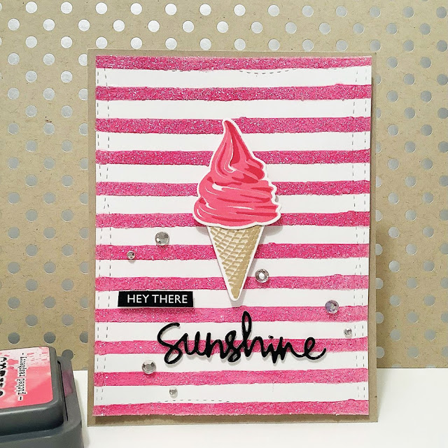 Sunny Studio Stamps: Two Scoops Customer Card by Judy Tuck