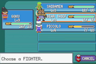 Pokemon Dragon Ball Z Team Training para GBA Personajes y Luchadores