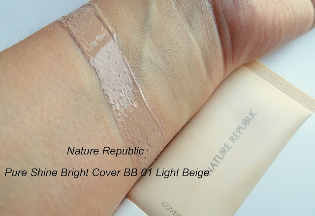 Nature Republic Pure Shine Bright Cover BB swatches
