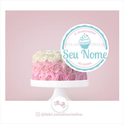 logo para doceiras; logo doceria; marca para doces; marca bolo no pote; marca para confeiteira; bolo no pote; logo bolo no pote; marca para doces personalizados