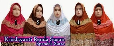 Jilbab instan modis krisdayanti renda susun