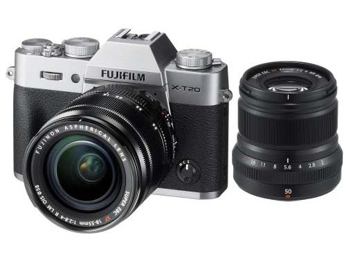 FUJIFILM Mirrorless Digital Camera X-T20 Kit2 - Black + Fujinon XF 50mm f/2 R WR Lens - Black (PWP)