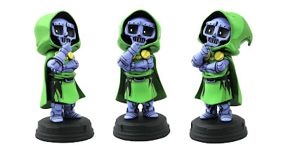 Doctor Doom Animated Marvel Mini Statue by Skottie Young x Gentle Giant x Diamond Select Toys