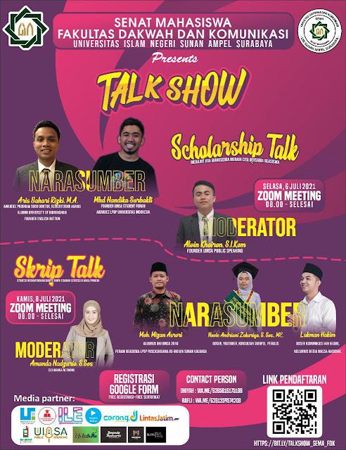 Scholarship Talk; Merajut Asa Mahasiswa Meraih Cita Bersama Beasiswa