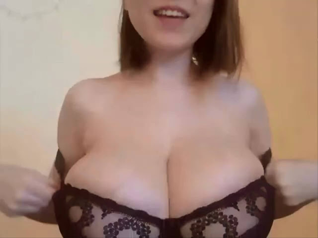 busty petite girl with huge natural tits big cleavage bra