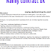 Nanny contract template uk free