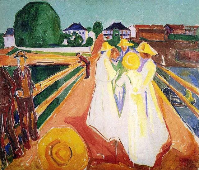 Эдвард Мунк - Женщины на мосту