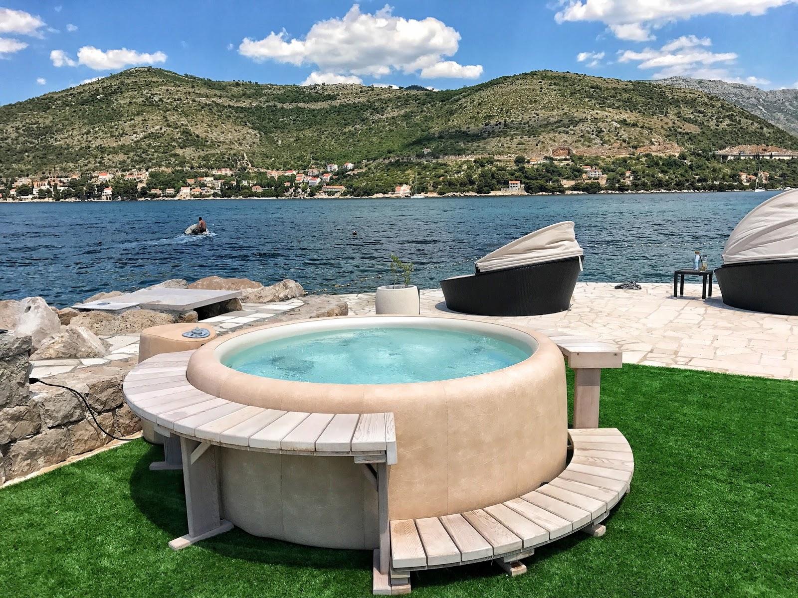 hot tub Copacana beach Dubrovnik Croatia